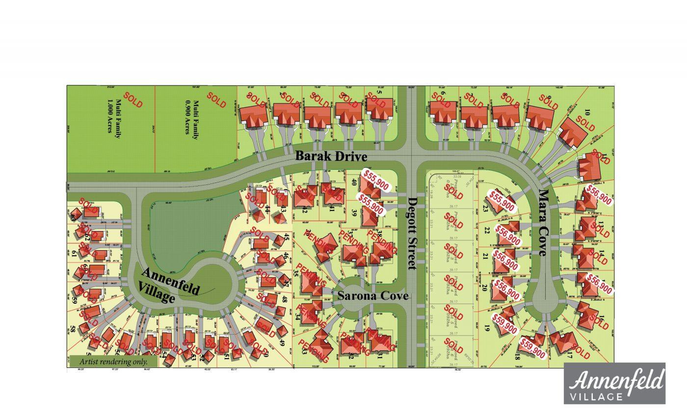 Annenfeld Village Development Site Map
