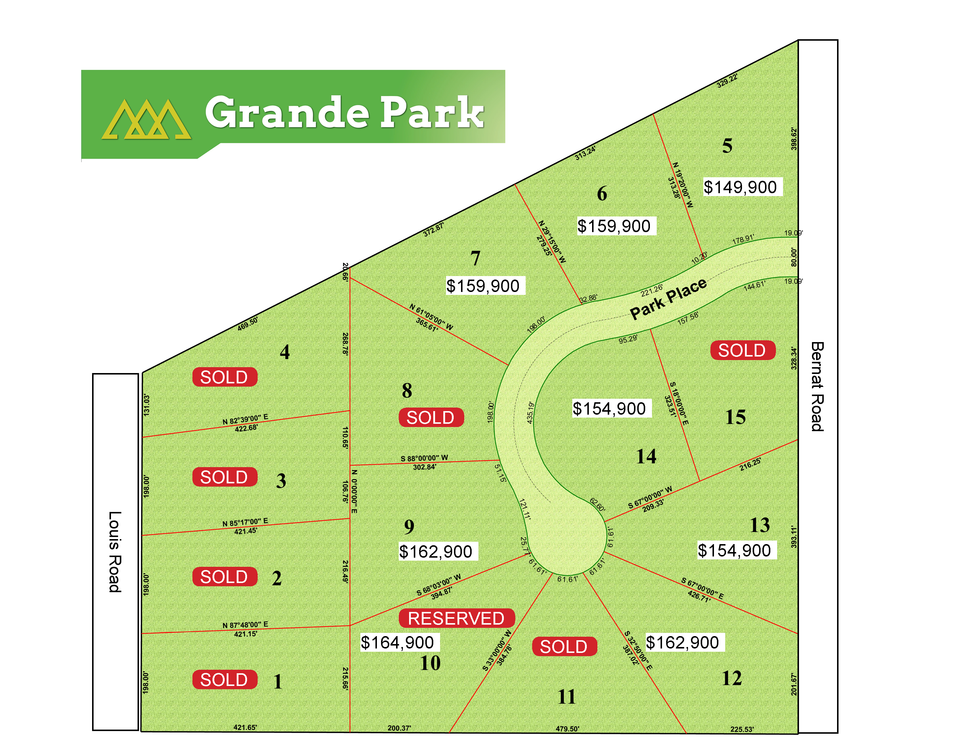 Grande Park Development Site Map