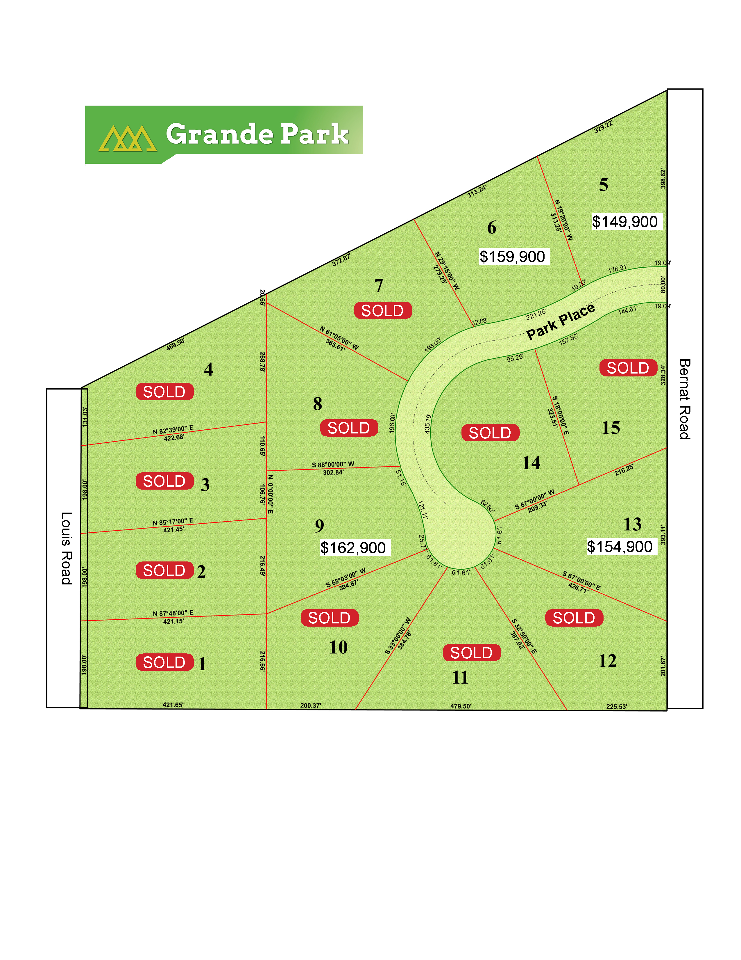 Grande Park Development Site Map