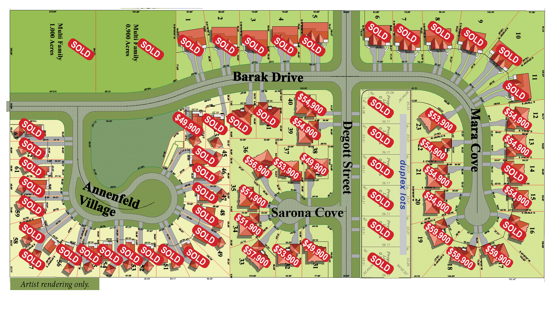 Annenfeld Village Development Site Map