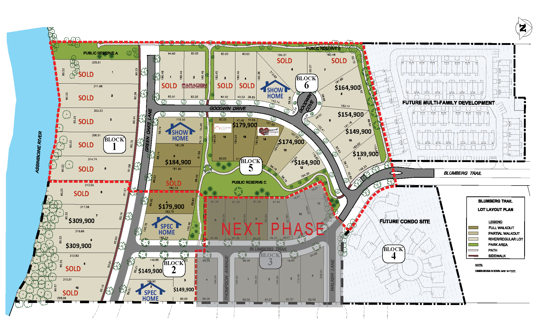 Blumberg Trail Development Site Map