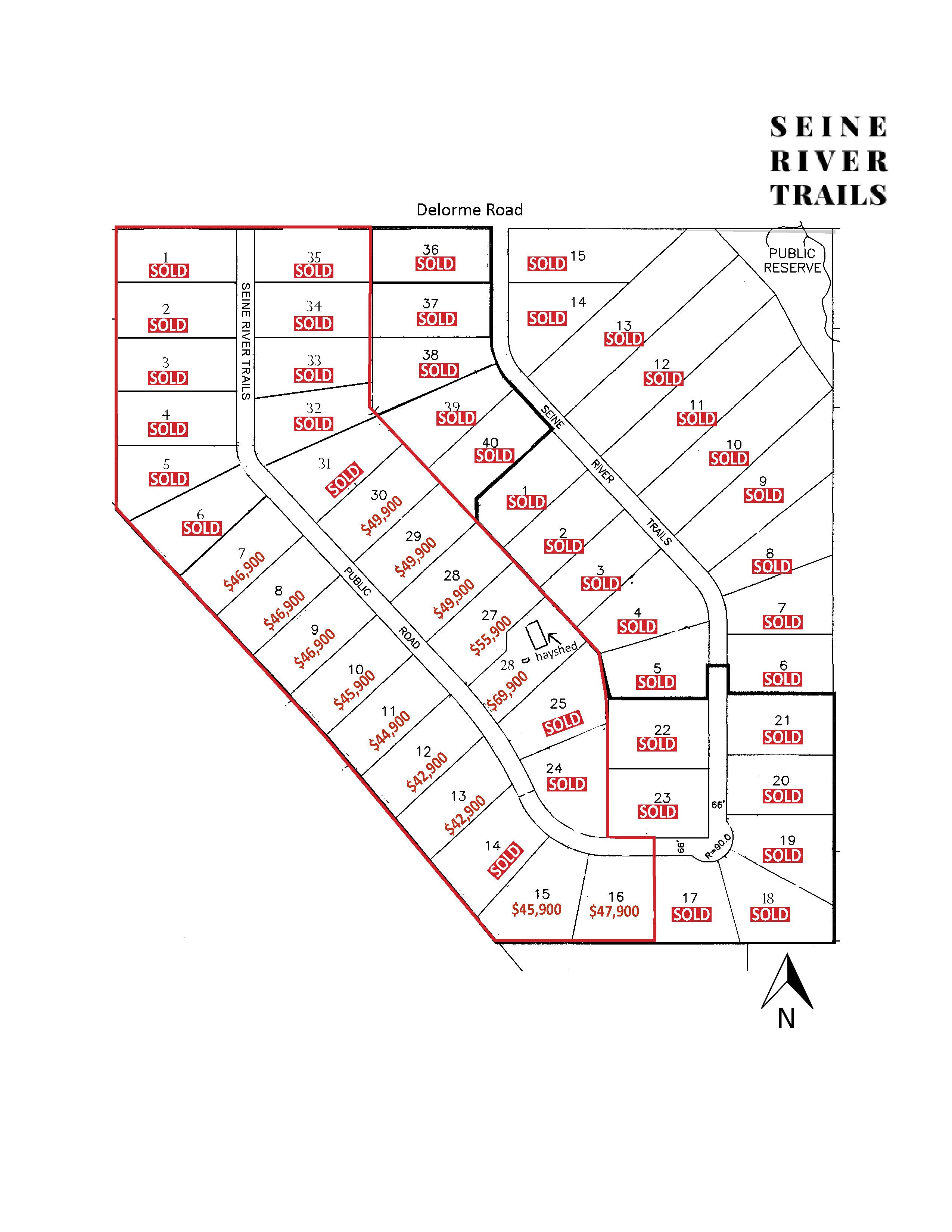 Seine River Trails Development Site Map